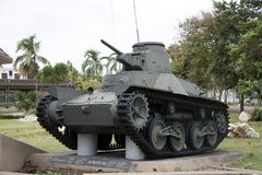 Decommission tank of Thai Army place outdoor at National Memorial to commemorate next Generation. Lam Luk Ka, Pathumthani,Thailand November 5, 2017 Stock Photography