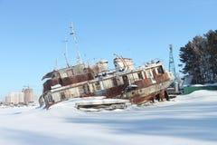 Decommissioned корабль сух-груза стоковое фото
