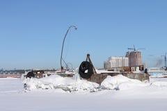Decommissioned корабль сух-груза стоковое изображение