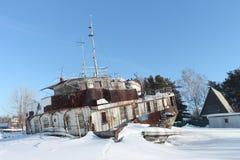 Decommissioned корабль сух-груза стоковая фотография rf