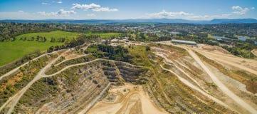 Decommissioned шахта известняка в Мельбурне стоковое изображение rf