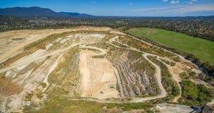 Decommissioned шахта известняка в Мельбурне стоковые фото