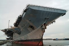 Decommissioned Aircraft Carrier Royalty Free Stock Photo