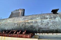 Decommissioned Royal Malaysian Navy submarine Agusta 70 Stock Photos