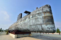 Decommissioned Royal Malaysian Navy submarine Agusta 70 Royalty Free Stock Photo