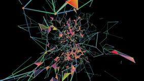 Decomposição cristalina Fundo abstrato do plexo para eventos e projetos diferentes Laço sem emenda ilustração royalty free