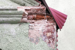 Decomposing roof corner Royalty Free Stock Photography