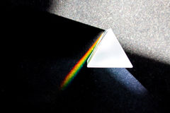 The decomposition of light in a prism Royalty Free Stock Images