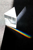 The decomposition of light in a prism. In the colors of the rainbow royalty free stock photography