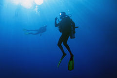 Decompressing after dive Royalty Free Stock Image