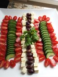 Deconstructed greek salad Royalty Free Stock Photography