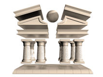 Deconstructed Greek Temple Stock Photos