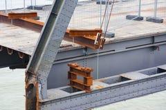 Deconstruction av en gammal bro fotografering för bildbyråer