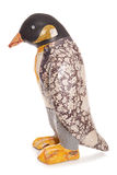 Decopage penguin in floral wedding suit Stock Photography