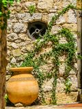Decor on the ancient street of the Eze village. Provence, France stock photos