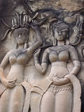 Decor in Angkor Wat in Siem Reap, Cambodia. Royalty Free Stock Images