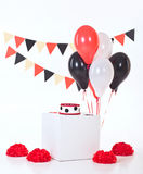 Decor for baby`s or child`s Birthday party Stock Images