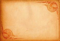 Decor background. Grunge background with decorative frame ornaments Royalty Free Stock Photo