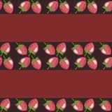 Decor background with strawberries Stock Images