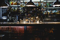 Decor. Bar in restaurant with decor Royalty Free Stock Photos