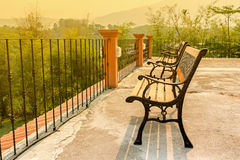 Decor bench on roof top Stock Image