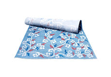 Decor, blauw tapijt Stock Fotografie