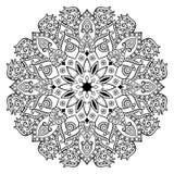 Decor bloemenmandala Royalty-vrije Stock Afbeelding