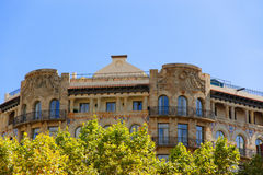 Decor of Building in Passeig de Gracia 33 in Barcelona Royalty Free Stock Photos