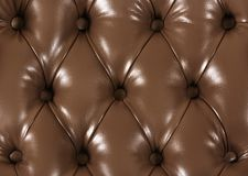 Decor Chesterfield from a brown leather stock photo