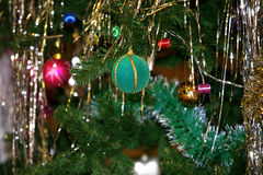 Decor of christmas tree Royalty Free Stock Image
