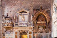 Decor of Church santa maria gloriosa dei frari. VENICE, ITALY - MARCH 30, 2017: decor of Basilica di santa maria gloriosa dei frari The Frari. The Church is one stock images