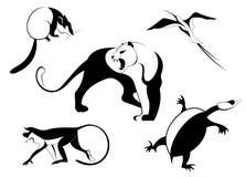 Decor dierlijk silhouet Stock Foto