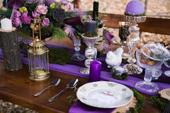 Decor dinner table Royalty Free Stock Image