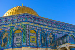 Decor of the Dome of the Rock Stock Photography