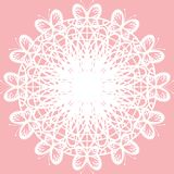 Decor element on pink background Stock Images