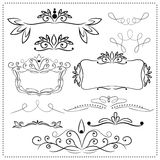 Decor elements Royalty Free Stock Images