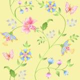 Decor floral elements seamless set Stock Images