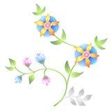 Decor floral elements set Royalty Free Stock Image