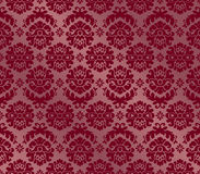 Decor Flower Bordo_d. Damask seamless decorative classic wallpaper Royalty Free Stock Image