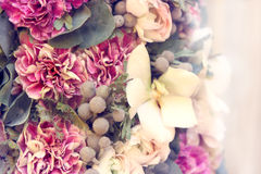 Decor flowers - bouquet of peonies. Decor flowers - bouquet of fresh peonies royalty free stock photography