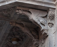 Decor in form of griffins Stock Photography