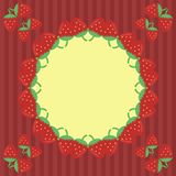 Decor frame with strawberry Stock Photos
