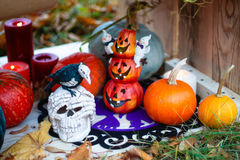 The decor and gifts for Halloween Royalty Free Stock Photos