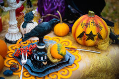 The decor and gifts for Halloween Royalty Free Stock Image
