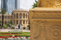 Decor of greek rotonda Royalty Free Stock Images