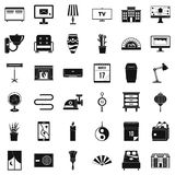 Decor icons set, simple style. Decor icons set. Simple style of 36 decor vector icons for web isolated on white background Royalty Free Stock Images