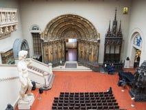 Decor of Italian Courtyard of Pushkin State Museum royalty free stock image