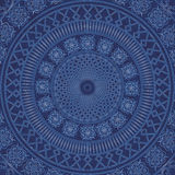 Decor lace on blue background. Old circle lace Royalty Free Stock Photos