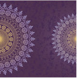 Decor lace on purple background. Old circle lace. Vector Vector Illustration