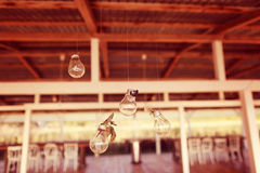Decor with light bulbs Royalty Free Stock Images